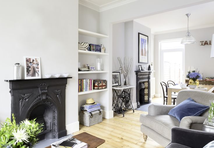 This is a strong black fireplace, which isn't too much. The TV would probably clash with the black though. This is the nicest black fireplace I've seen though.