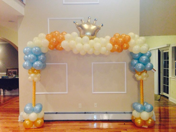 Crown balloon arch royal crowns pinterest