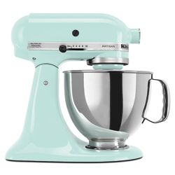 I want this!!@Overstock - Artisan 5-quart mixer is a substantial piece of home kitchen equipment  KitchenAid's 325 watts of mixing power make child's play of creaming, kneading and whipping  Blender attachments connect to beater shaft with a twisthttp://www.overstock.com/Home-Garden/KitchenAid-KSM150PSIC-Ice-Artisan-Series-5-quart-Stand-Mixer/4270284/product.html?CID=214117 Add to cart to see special price