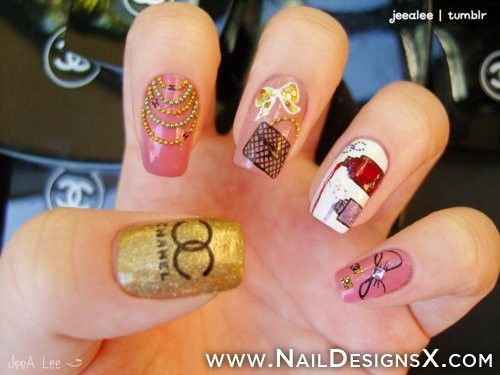 Best 25 chanel nails design ideas on pinterest chanel nail art chanel nail design nail designs nail art prinsesfo Image collections