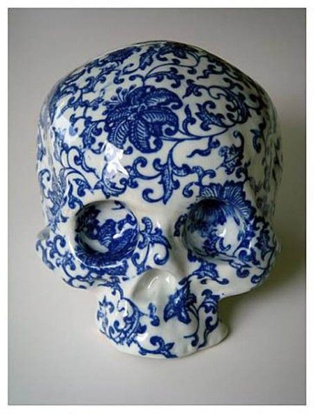 Huang Yan. Untitled 2007. I LOVE this! I think sugar skulls are always some of the most interesting works of art.
