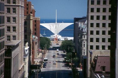 Milwaukee, WI - view down Wisconsin Avenue.
