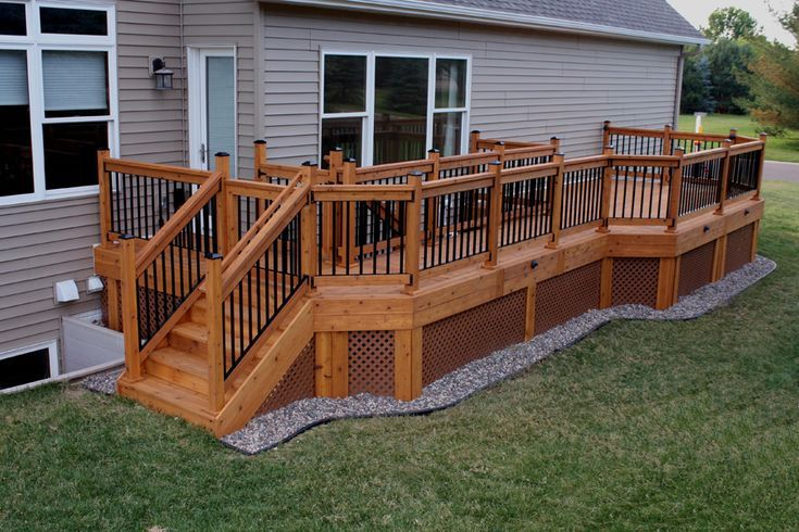 Do You Live In A Community Where The Traditional Physical Fence Is Banned You In 2020 Deck Designs Backyard Deck Landscaping Deck Gate