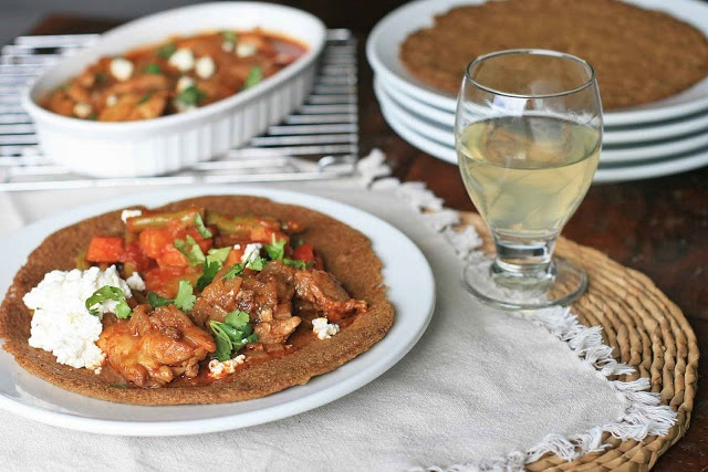 Injera- Spongy Ethiopian Bread Plate  ::  via Girl Cooks World (gluten-free recipes from around the globe)