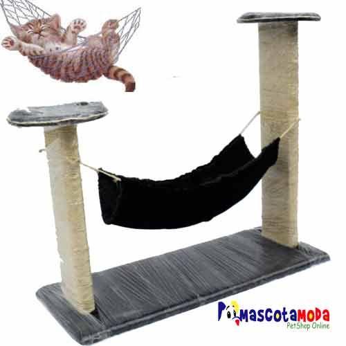 Gimnacion con hamaca para gatos accesorios para gatos juguetes rascadores casas platos - Accesorios para hamacas ...