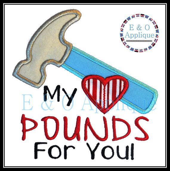 My Heart Pounds For You Applique  Valentine by EandOApplique