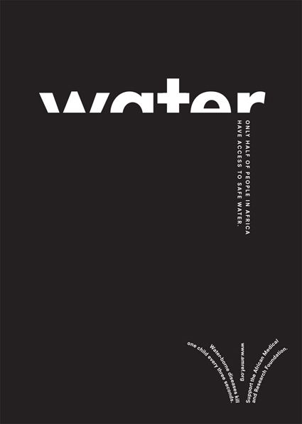 water awareness typographic poster