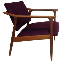 1950s Teak Easy Chair Designed by Torben Afdal, Made in Norway