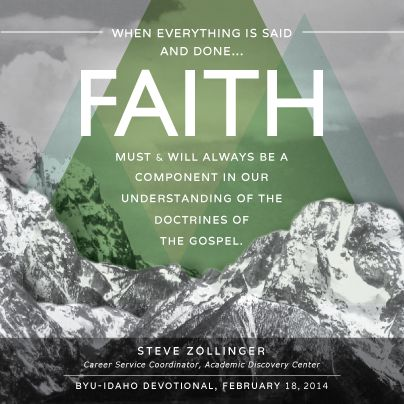 A quote by Steve Zollinger, devotional February 18, 2014.