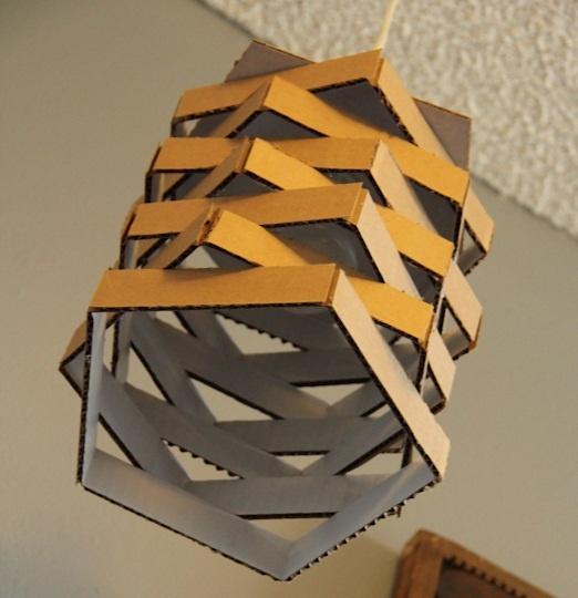 DIY Lamp From Cardboard