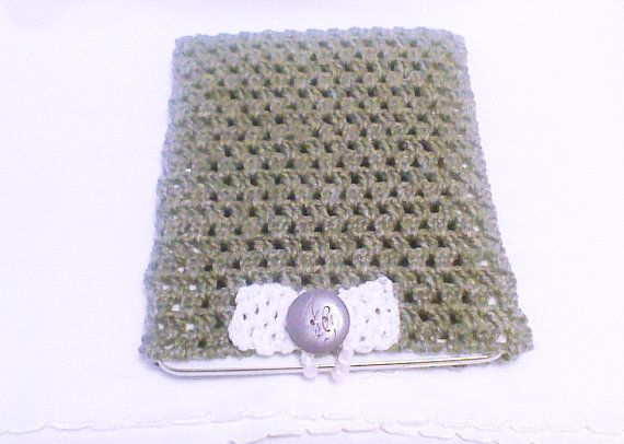 Crochet tablet cover Gray Cozy Grey tablet Sleeve by HandmadeTrend, $22.00