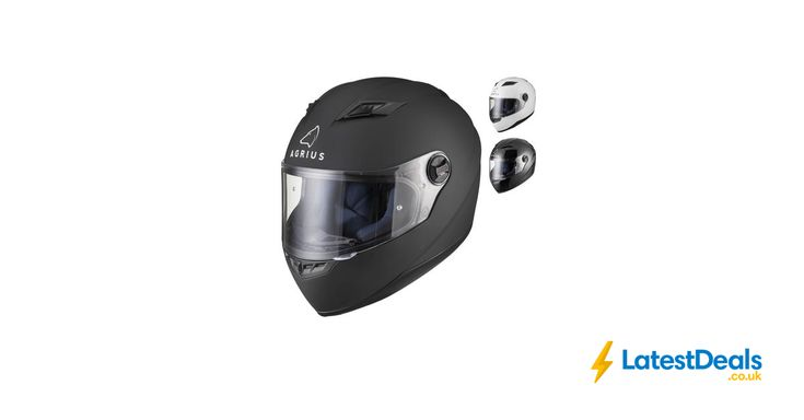 Agrius Rage Solid Motorcycle Helmet Full Face, £20.99 at ebay