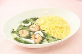 玉子チャーハン 海鮮スープ添え