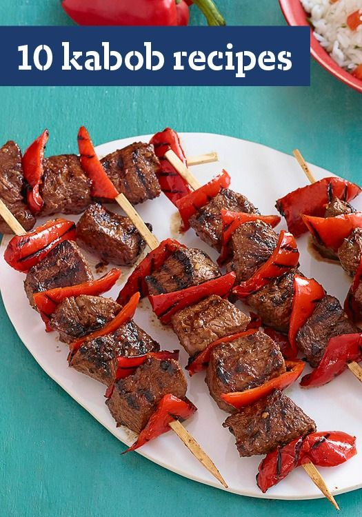10 Kabob Recipes — Just about everything tastes great on a stick. Find kabob recipes here that include your favorite ingredients, like chicken, bacon, beef and even pineapple.