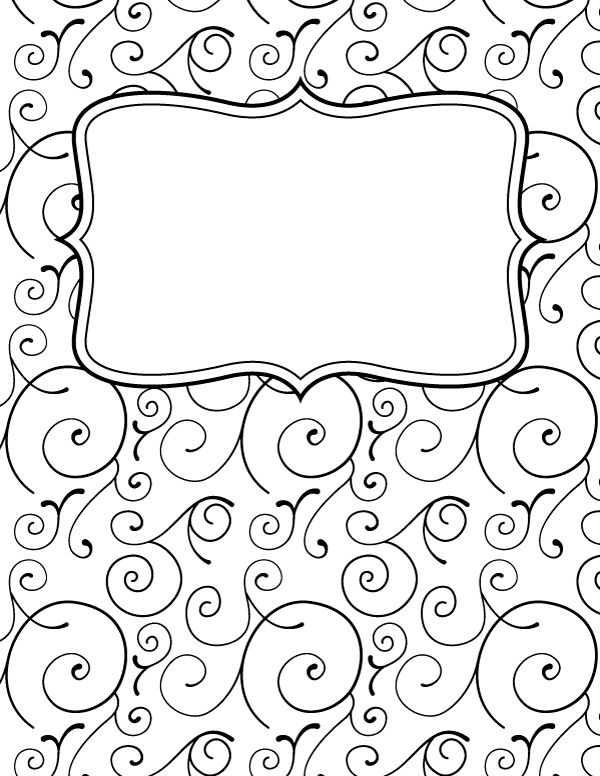 Colouring Book Cover Template : Ideas about binder covers free on pinterest