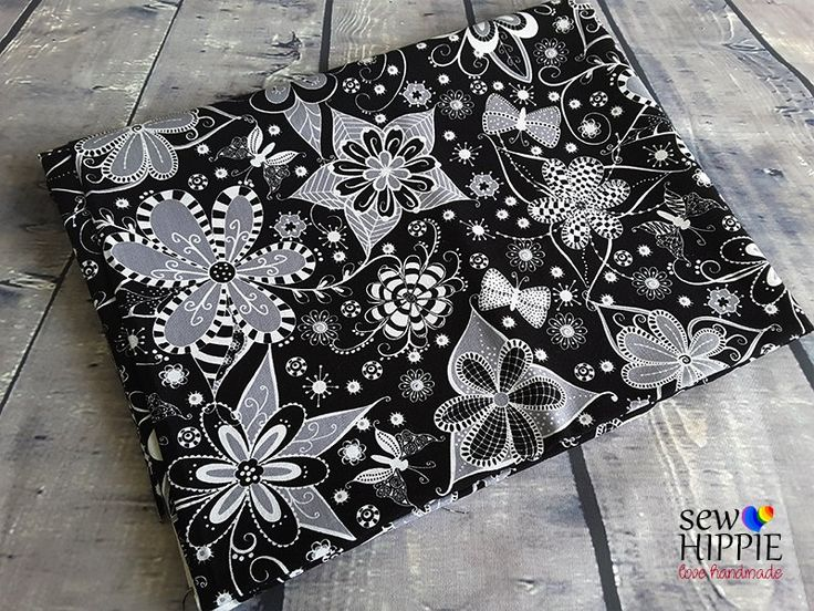 Ink Blossoms Available for custom order bags, journal covers and storage baskets. http://www.sewhippiebags.etsy.com