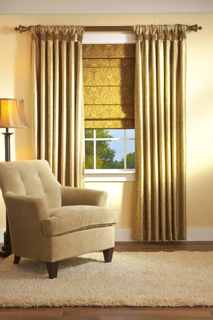 les doubles rideaux autant de belles id es archzine. Black Bedroom Furniture Sets. Home Design Ideas