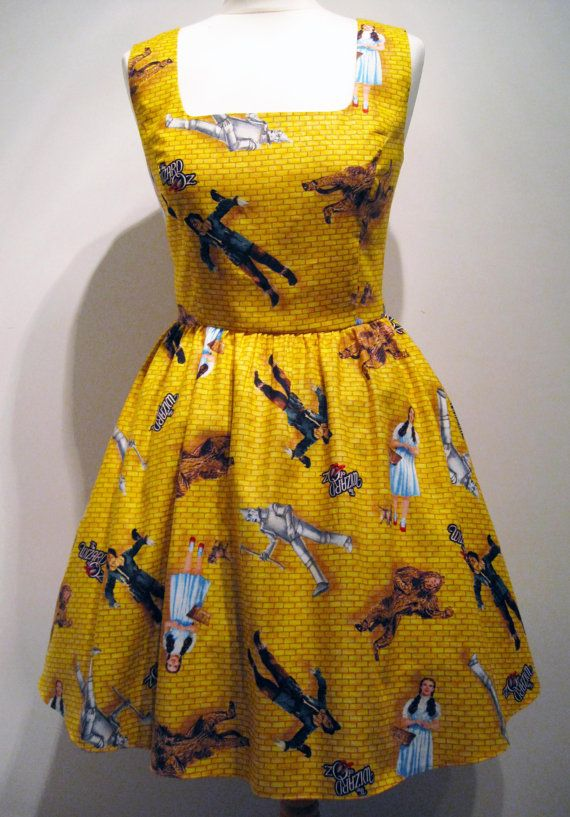Wizard Of Oz Yellow Brick Road Dress Unique by Frockasaurus