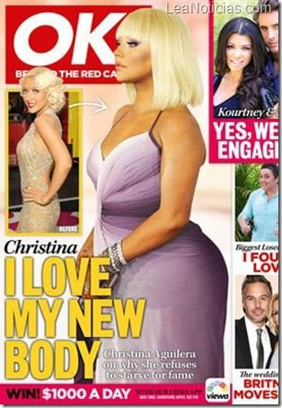 Revista OK! modifica foto de Christina Aguilera para que luzca más gorda - http://www.leanoticias.com/2012/11/28/revista-ok-modifica-foto-de-christina-aguilera-para-que-luzca-mas-gorda/