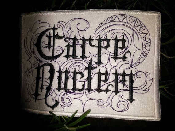 Carpe Noctem/Seize the Night patch by HourGlassSewing on Etsy