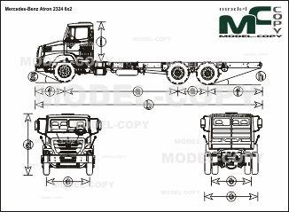 Mercedes-Benz Atron 2324 6x2 - чертеж