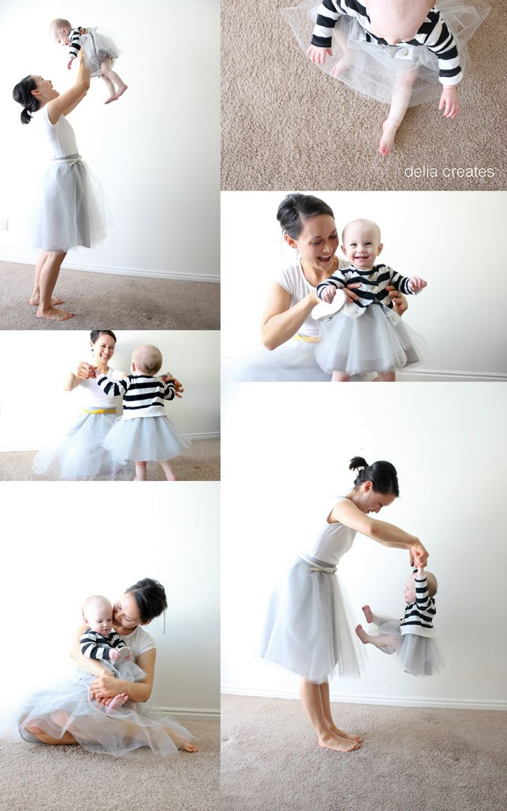 Such a fun idea. Class up the tulle skirt for both little girls and moms.