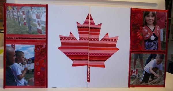 Canada Day scrapbook layout