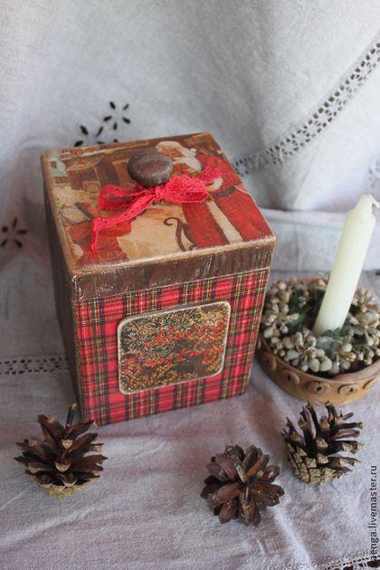 """""""С Рождеством"""" короб - коричневый,рождественский подарок,новогодний подарок"""