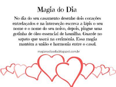 Magia no Dia a Dia: Magia do Dia: para os noivos  http://magianodiaadia.blogspot.com.br/