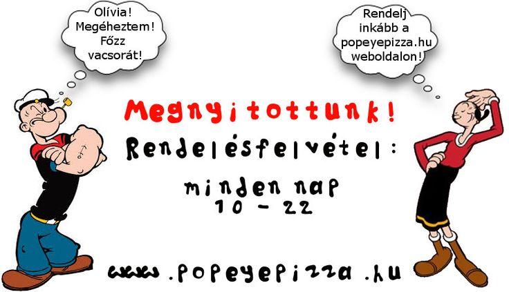 Ha nincs még ebéded... #törökszentmiklós #pizza #popeye #rendelés #online #open #popeyepizza