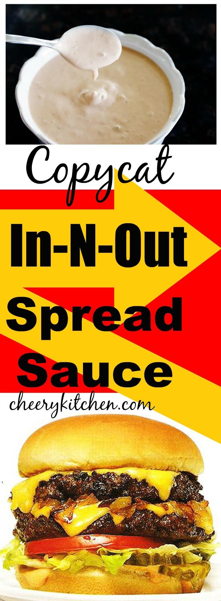 Make your fries and burgers amazing with our Copycat In-N-Out Spread Sauce. Serve it all double-double and animal style!