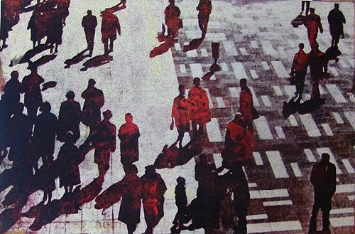 Robert Boynes, 'The Great Divide 3' 1997, acrylic on board, 60 x 90cm