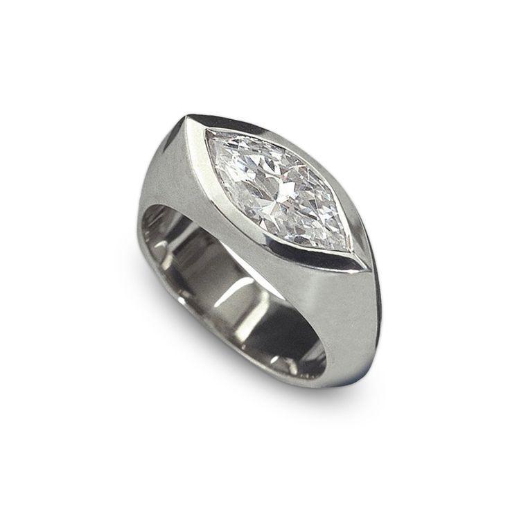 Marquise Cut Engagement Rings Sideways