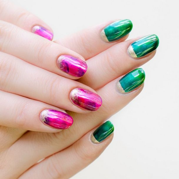 1665 best nailspotting images on pinterest marie antoinette fluid swirls of color look just as striking on a canvas as they do your nails check out kits from formula x and opi to try the look at homeno art degree prinsesfo Gallery