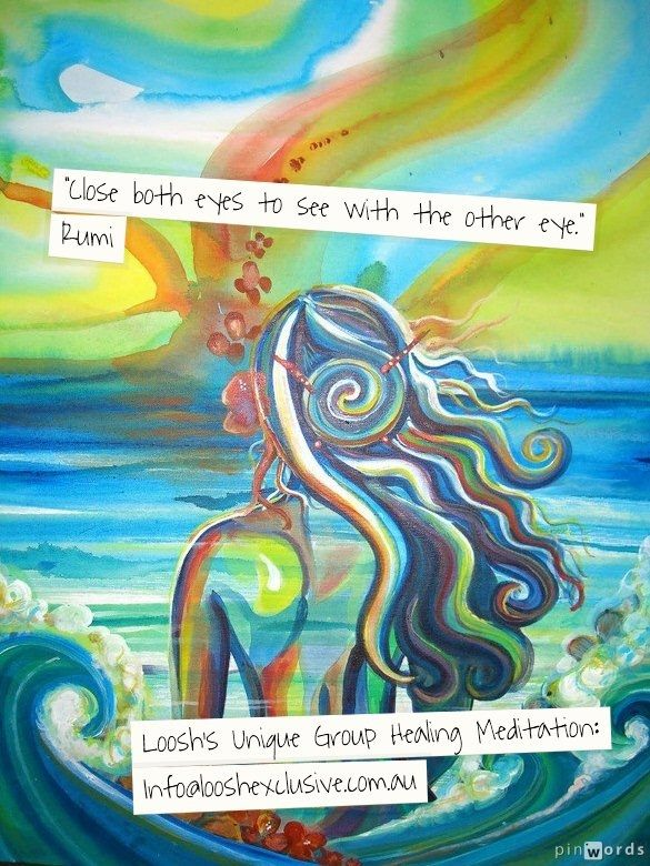 Loosh's Unique Group Healing Meditation:  info@looshexclusive.com.au