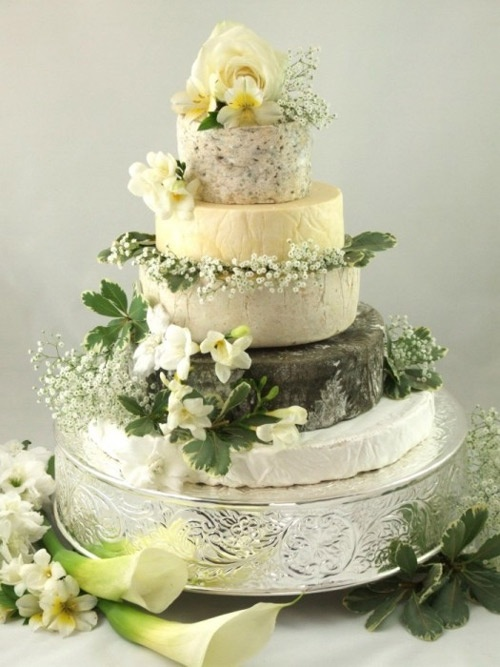 Cheese wedding cake- This one is beautiful and soft and looks like a real wedding cake- very pretty ""