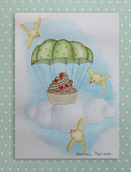 Cupcake y paracaídas. (Gemma Merinero)