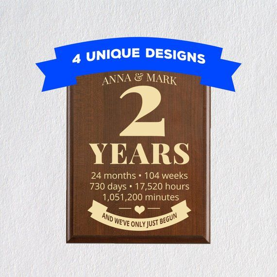 2nd Wedding Anniversary Gifts For Men: 2nd Year Second Anniversary Gift