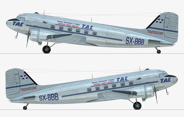 TAE-Greek National airlines Douglas C-47A-5-DK (DC-3) [SX-BBB]
