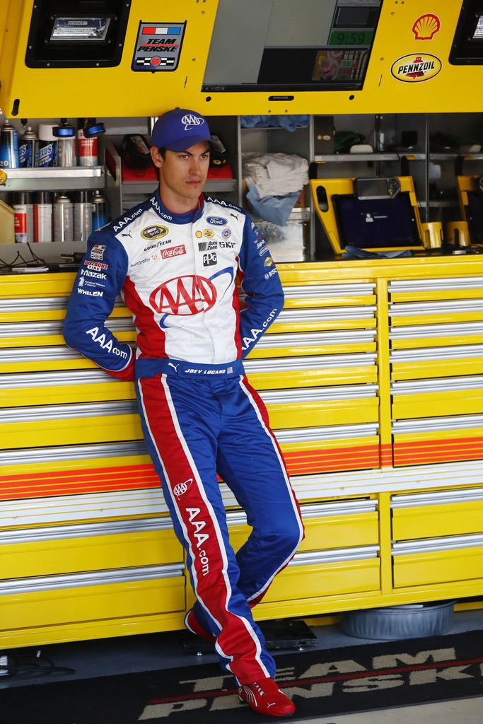 Joey Logano Photos - Kansas Speedway - Day 2 - Zimbio