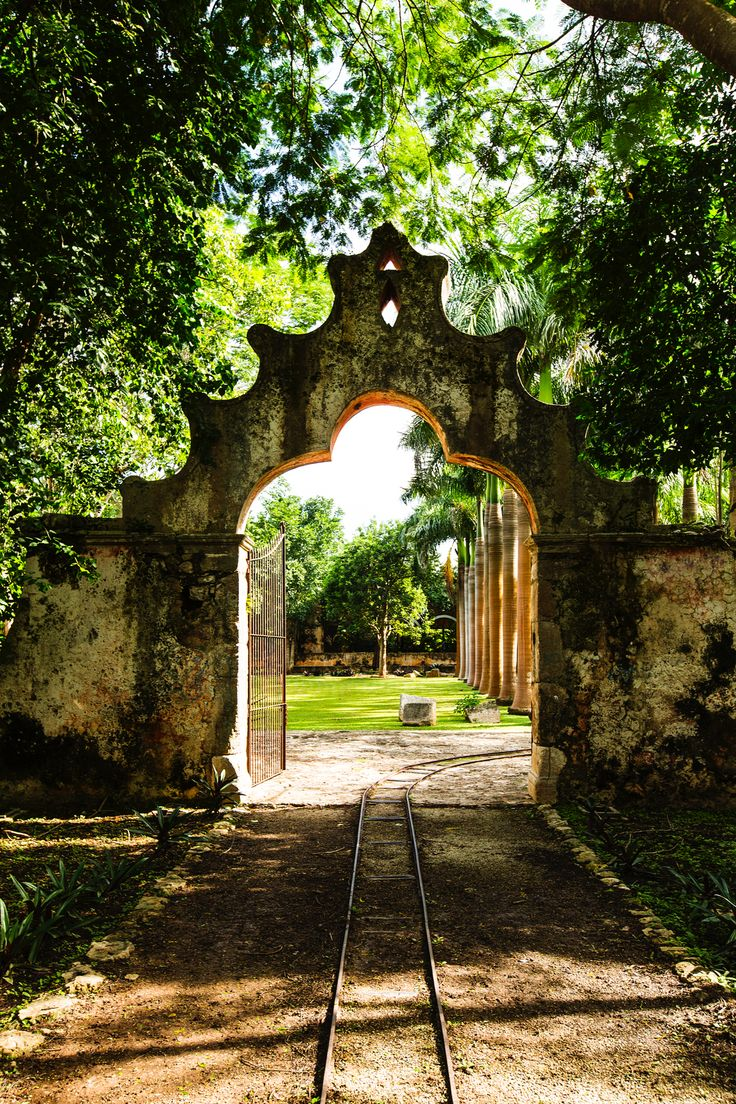 Mexican haciendas are legendary. This is the entrance to Hacienda Orchil, Yucatan, Mexico
