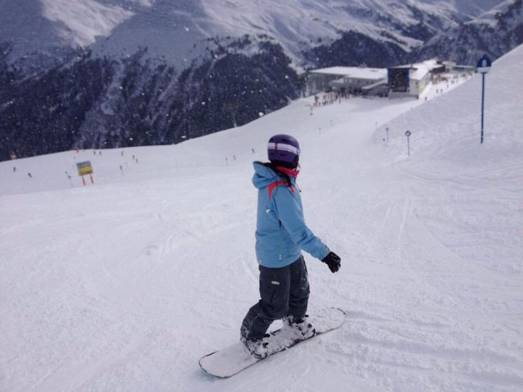 Shredding it up on the slopes of Austria