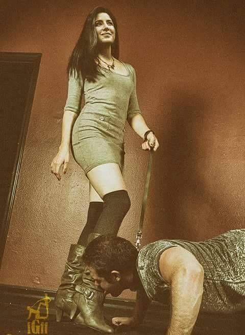 """cfnmslave1966: """" shine them good brother and ill let you keep your clothes on for your walk today """" respect all Women"""
