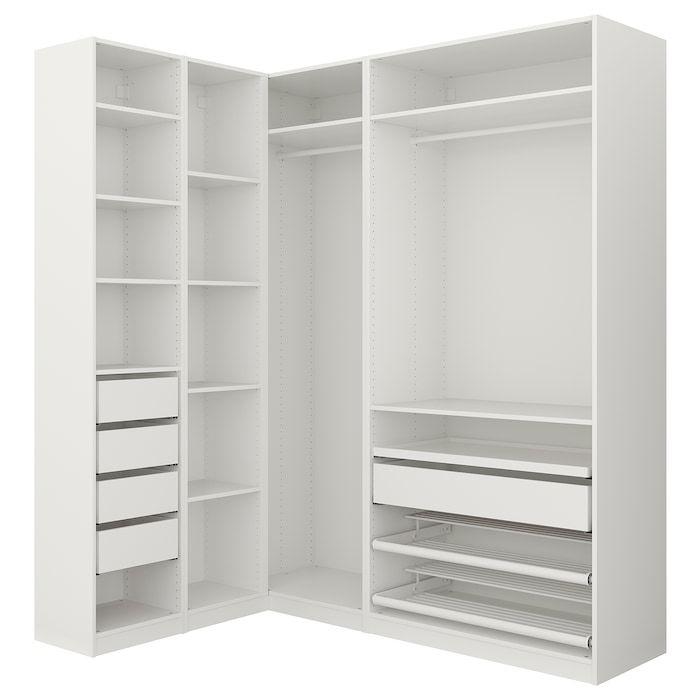 Pax Corner Wardrobe White Ikea In 2020 Pax Corner Wardrobe