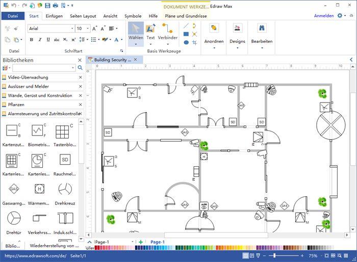 Sicherheits und Zugriffsplan Software Planer layout
