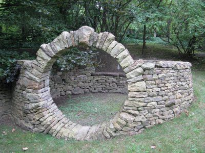 "A ""Moon Gate."" How cool would this be in your garden??"