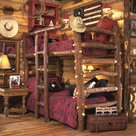 {this looks like the old Anteks store in Dallas on Lovers Lane} great rustic/western kids bedroom