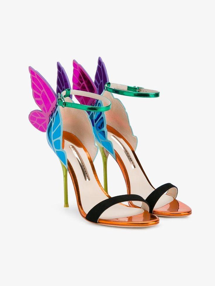 SOPHIA WEBSTER LEATHER 'CHIARA' SANDALS. #sophiawebster #shoes #sandals
