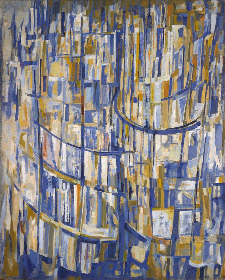 'Les Tours' (1953) by Maria Helena Vieira da Silva