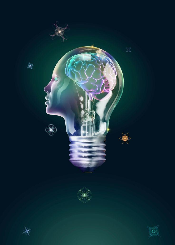 Картинки лампочек с мозгами